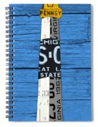 Big Sable Point Lighthouse Michigan Great Lakes License Plate Art Spiral Notebook