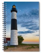 Big Sable Point Lighthouse Sunset Spiral Notebook