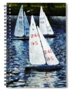 Big Sailors And Little Boats Spiral Notebook