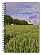 Big Sky Montana Wheat Field  Spiral Notebook