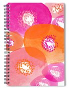 Big Spring Flowers- Contemporary Watercolor Painting Spiral Notebook