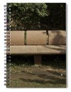 Big Stone Bench Inside The Garden Of 5 Senses Spiral Notebook
