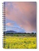 Big Storm And Tornado At Sunset Spiral Notebook