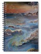 Big Sur In Sunset Spiral Notebook