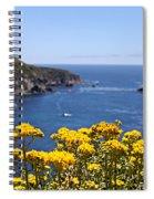 Big Sur Loves Yellow By Diana Sainz Spiral Notebook