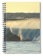 Big Surf At Sunset Spiral Notebook
