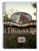 Big Thunder Ranch Signage Frontierland Disneyland Spiral Notebook