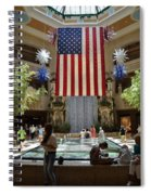 Big Usa Flag 3 Spiral Notebook