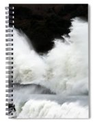 Big Waves Breaking On Breakwater Spiral Notebook