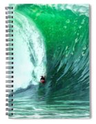 Big Wednesday At The Wedge Spiral Notebook