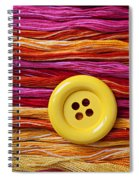 Big Yellow Button  Spiral Notebook