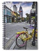 Bike And 3 Georges In Mobile Alabama Spiral Notebook