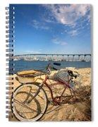 Bike And A Brdige Spiral Notebook