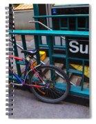 Bike At Subway Entrance Spiral Notebook