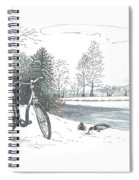 Bike In The Snow Spiral Notebook