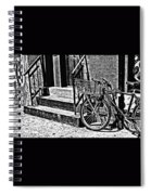 Bike In The Sun Black And White Spiral Notebook