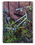 Bike In The Vines Spiral Notebook