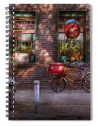 Bike - Ny - Chelsea - The Delivery Bike Spiral Notebook