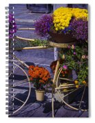 Bike Planter Spiral Notebook