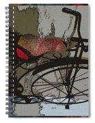 Bike Seat View Spiral Notebook