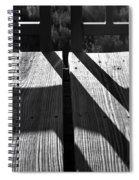 Bike Trail Bridge Bw Spiral Notebook