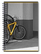 Bike With Frame Spiral Notebook