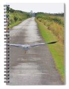 Biker And The Bird Spiral Notebook