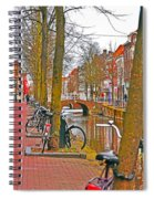Bikes And Canals Spiral Notebook