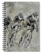 Bikes In The Rain Spiral Notebook