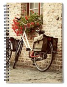 Bikes In The School Yard Spiral Notebook