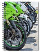 Bikes Lined Spiral Notebook
