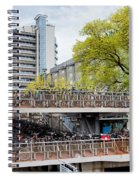 Bikes Parking In Amsterdam Spiral Notebook