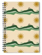 Bike Pattern Spiral Notebook
