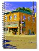 Biking By The Bakery On Bank The Glebe Nicastro Foods And David's Tea Ottawa Streetscene Cspandau    Spiral Notebook