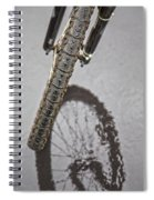 Biking In The Rain Spiral Notebook