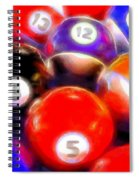 Billiard Balls On The Table Spiral Notebook