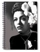 Billie Holiday Singer Song Writer No Date-2014 Spiral Notebook