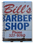 Bill's Barber Shop Spiral Notebook