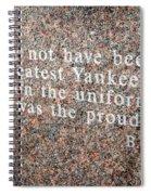 Billy Martin Spiral Notebook
