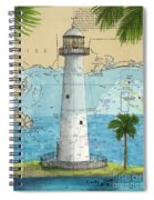 Biloxi Lighthouse Ms Nautical Chart Art Cathy Peek Spiral Notebook
