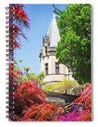 Biltmore And Japanese Maple Trees Spiral Notebook