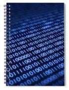 Binary Code On Pixellated Screen Spiral Notebook