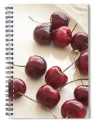Bing Cherries And White Plate Spiral Notebook