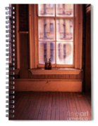 Binoculars On Windowsill Spiral Notebook