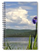 Birch Lake Iris Spiral Notebook