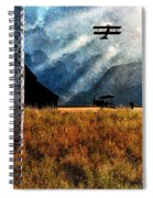 Birch Trees And Biplanes  Spiral Notebook