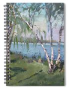 Birch Trees By The River Spiral Notebook