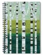 Birches At The Beach Spiral Notebook