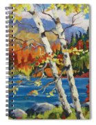 Birches By The Lake Spiral Notebook