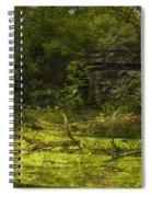 Bird By Bridge In Forest Merged Image Spiral Notebook